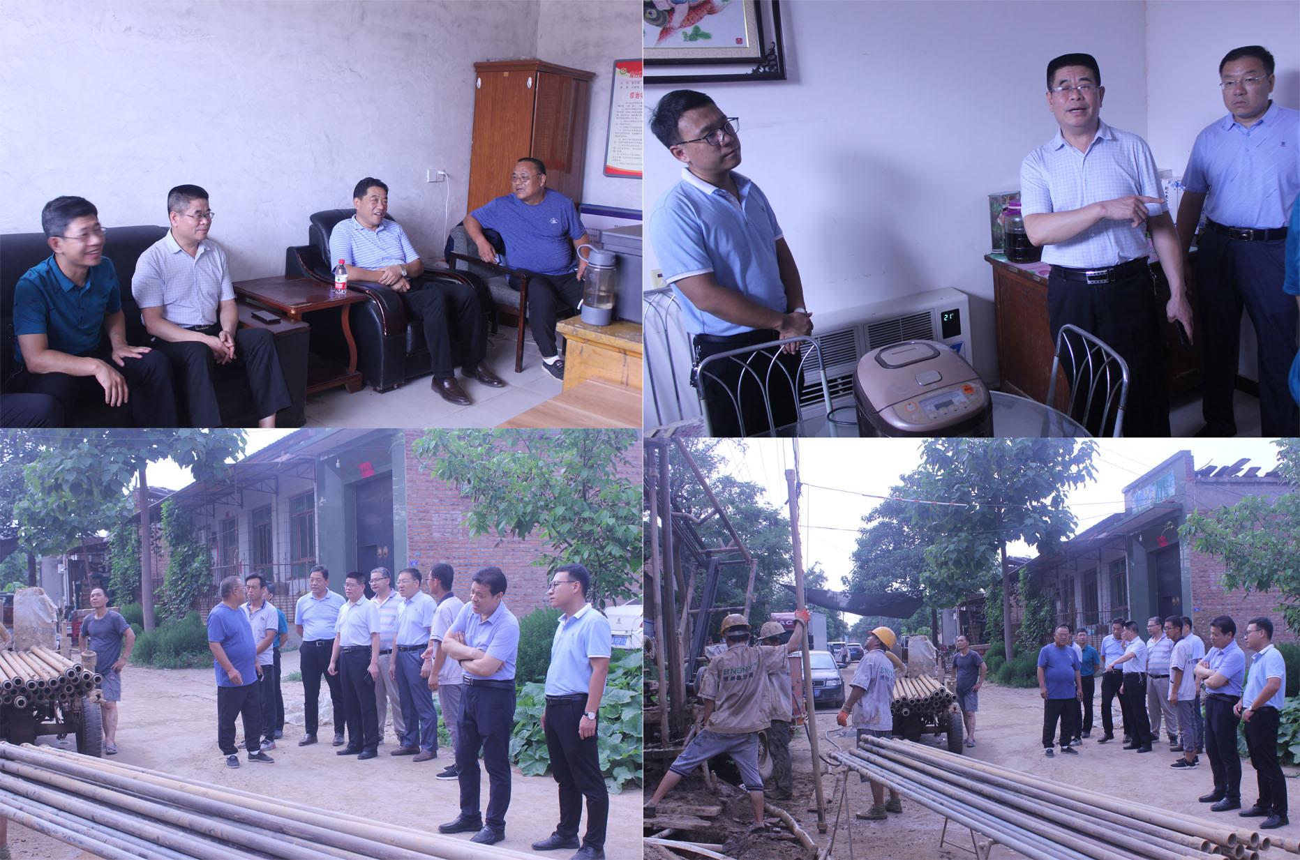 石家庄市双代办领导考察淘宝彩票为什么停售了晋州市南白滩村煤改电工作