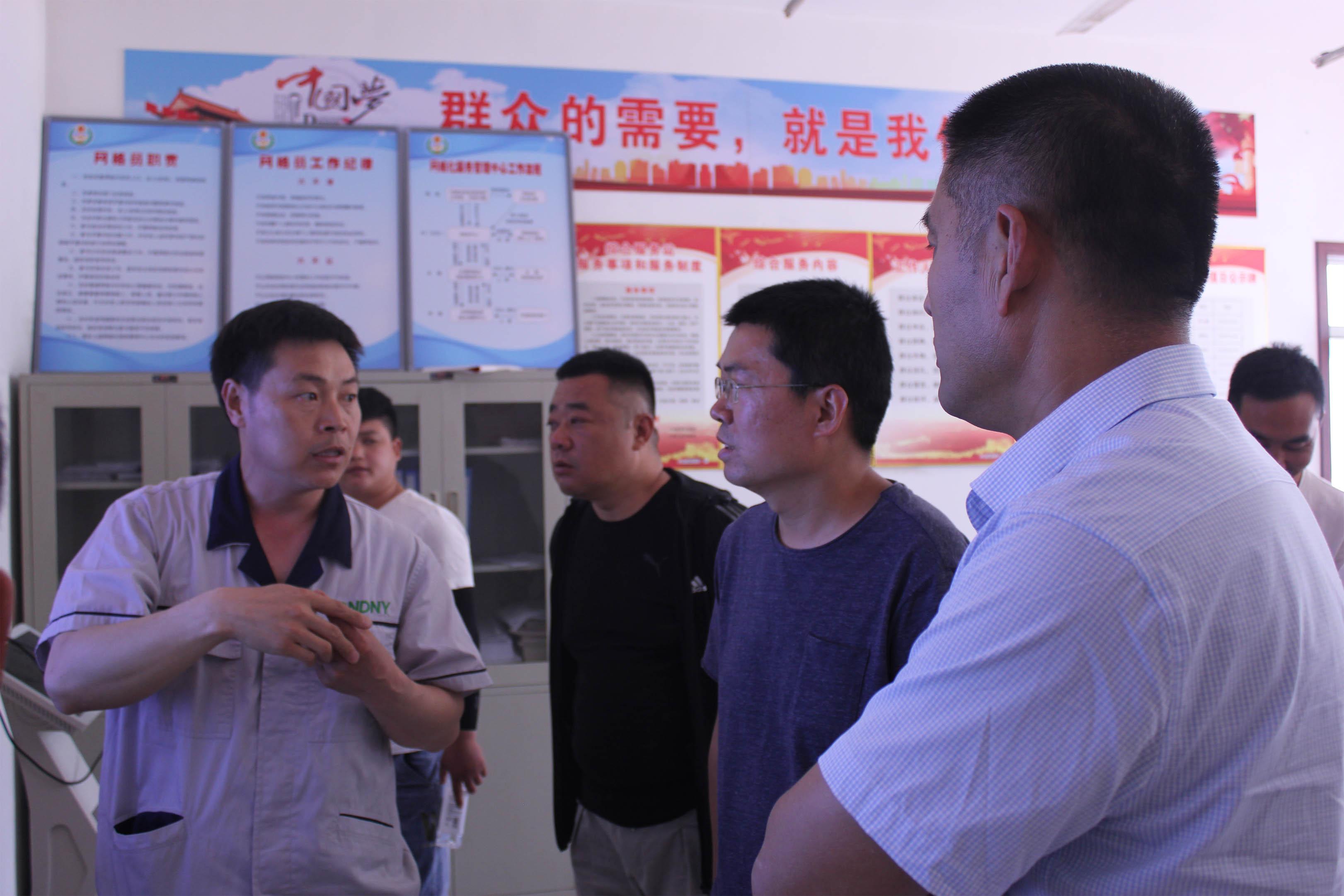 邢台市临西县吕寨镇政府领导及各村代表到万博最新app参观考察